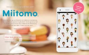 online registeren voor miitomo mogelijk